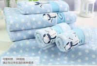 100% Cotton X'mas Snow man bathroom 3pcs towel set 3pcs=1pc bath towel 64*127cm+1pc face towel 41*66cm+1pc hand towel 28*46cm
