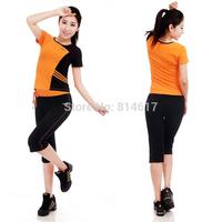 2014 New arrive woman's quality brand Callisthenics workout clothes comfortable sportswear fitness aerobics clothing summer set