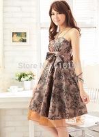 Free Shipping sexy high waist sleeveless cutout Pink Sweet 2014 Quinceanera Dress