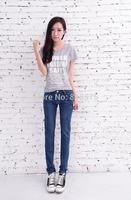 Clearance price!new 2014 hot sale women's slim show thin elastic cotton denim jeans.summer fashion all-match women pencil pants