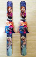 200pcs/lot! Hot Sale Frozen Princess Snap Watch for Girls Cartoon Children Slap Watch Silicone Jelly Watch A3320 Free Shipping