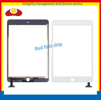 DHL 50Pcs/lot For Ipad Mini Glass Panel Lens Touch Screen Digitizer Glass Lens Panel Without IC Black Or White Color