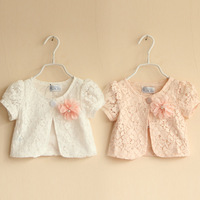2014 summer lace flower girls clothing baby child short-sleeve small cape outerwear pashmina for Kids wt-2637