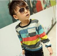 1pcs Good Quality Fashion Cotton boy's t-shirts baby t shirts colorful childrens t shirt kids wear free shipping