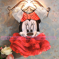 2014 summer new children girls skirt suit 2pc sets Minnie Mouse Clothing Sets princess skirt girls odeeda free shipping,NT005