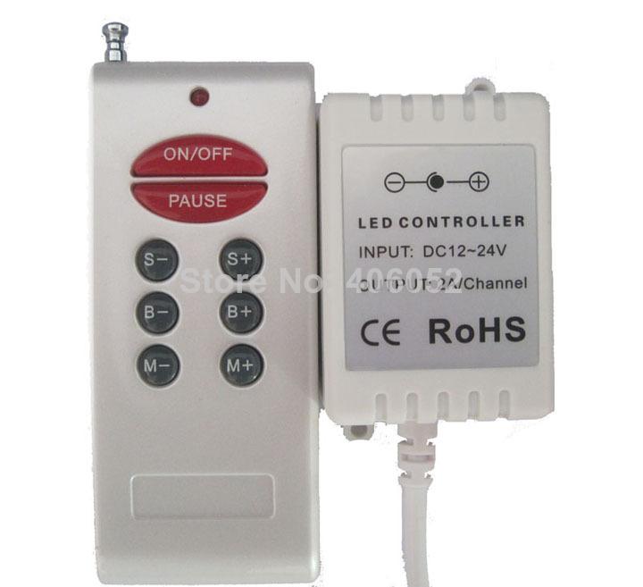 4set/lot Wireless Remote 8 Keys RF RGB led controller Control RGB LED Strip Light DC 12V-24V 6A(China (Mainland))