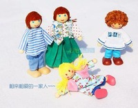 Wooden many styles  dolls , Wooden toys for children,Movable modelling,changeable