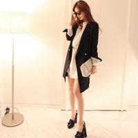 New autumn black suit jacket coat Korean style fashion Slim coat for women 75cm length S/M/L Free shipping