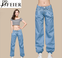 Brand new desigual summer 2014 women clothing bottoms,high quality woman wide leg pants,plus size cotton denim jeans,Comfortable