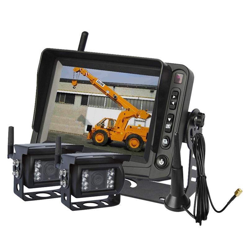 "5"" Wireless Car Rear View Backup Camera System With 2pcs CCD Reverse Camera Kit(China (Mainland))"