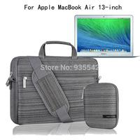 For Apple MacBook Air 13 13.3-inch Multi-functional Computer Neoprene Briefcase Case Shoulder Bag Messenger