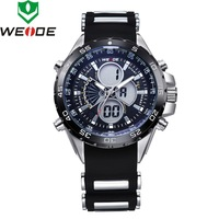 2014 WEIDE brand Military watch original Japan quartz dual time Analog sport multifunction wrist watches for men 30m waterproof