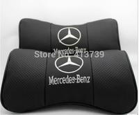 Mercedes GLK level A grade Class C E The s-class  Genuine leather headrest The bamboo carbon A neck pillow cowhide pillows