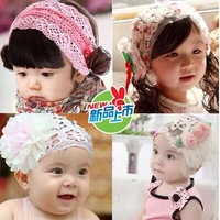 Baby Girls Kids Infants Children Newborn Big Flower Headband Headwear Hair Accessories Fashion Design  baby coil hair headwear