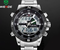 men watches 2014 Led Dual time Display Men's Military Watches Men's Sports Watches Weide 1104 Men's Full Steel Watch