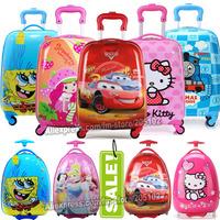 "16"" 18"" inch Children Luggage Suitcase,Child Kid Boy Girl Princess Cat  ABS Cartoon trolley case box Traveller Pull Rod Trunk"