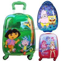"16"" 18"" inch Children Luggage ABS Kid Suitcase,Child Boy Girl Princess Cat  trolley case box Cartoon Traveller Pull Rod Trunk"