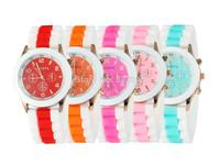Geneva Casual Watch Women Dress Watch 2014 NEW fashion Quartz Military men Silicone watches Unisex Wristwatch Sports watches