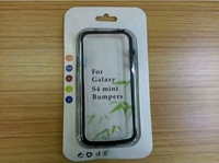 2014 Wholesales Fashion Tow-In-One TPU+ PC Bumper For Samsung I9190 S4 Mini Bumper Case With Free Shipping No Packaging