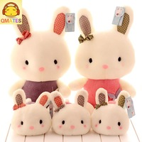 22cm free shipping wholesale stuffed toy plush toy soft baby doll qmates birthday gift cute rabbit
