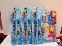 Stationery Set Rushed 2014 New Children's Stationery Set Frozen Ballpoint Pen + Pencil+ for Sharpener Eraser Mini Book = 1set