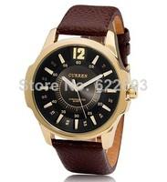 Men Casual Watch Curren 8123 Luxury brand quartz Watches leather strap fashion watches Sports watch steel Case 2014 new dropship