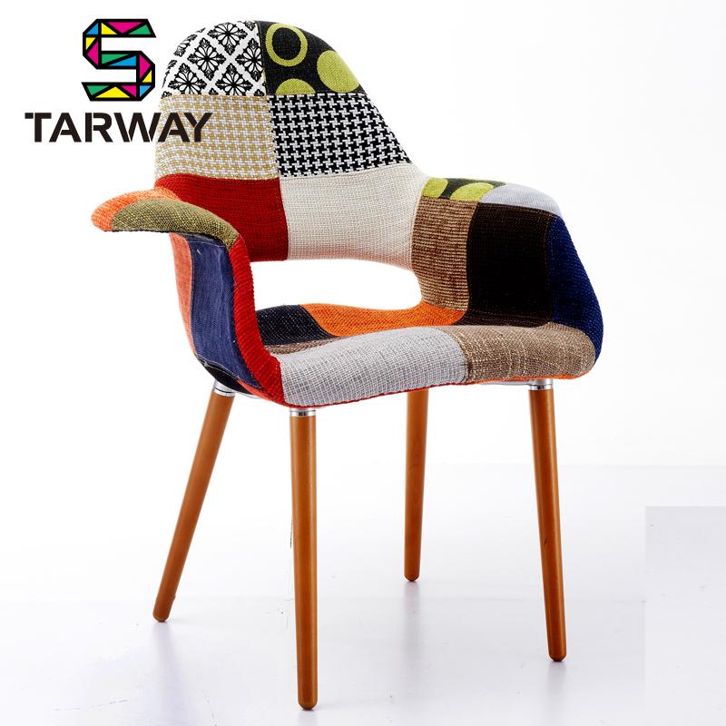 ... cent chiffon accoudoir dinette chaises café tissu de mode soft pack