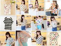 New 2014 summer women's loose short-sleeved t-shirt women shorts clothing lady bottoming roupas femininas