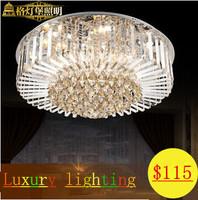 2014 New Seconds Kill Glass Abajur Elegant Round Crystal Light Ceiling Lights Modern Led Air Living Room Lamp Bedroom Restaurant