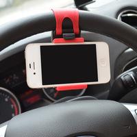 Car Steering Wheel Car Phone Holder portable Apple iphone Samsung htc phone holder mobile phone holder