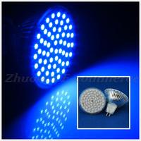 10 PCS/Lot Free Shipping Blue Light 4W MR16 60 SMD 3528 LED Energy Saving Bulb Lamp Spot Down Light LED0276