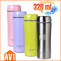 Double stainless steel vacuum bottle, SUS304, Thermos flask, extra tea slot. High quality brand drink ware,tea,coffee,water.