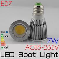 10pcs/lot High Power Epistar E27 7W AC85-265v Non-dimmable CE&ROHS LED Spotlight bulb FREESHIPPING
