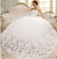 W-10 Bride Wedding Dresses Beatiful 4 Size Sleeveless Elegant Sweet Princess Wrapped Chest Ball Gown Wedding Dresses