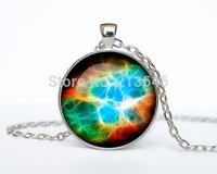 1pcs  Helix Nebula pendant Helix Nebula necklace Helix Nebula jewelry galaxy universe stars Glass Cabochon Necklace A0088