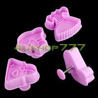 EN1546 Fashion Girl Dress Plunger Cutter Fondant Cake Cookie Candy Sugarcraft Mold Tool