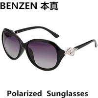 2014  Women Polarized Sunglasses Luxurious Rhinestone  Sun glasses Women's Vintage Sunglass  With Case Black  1020B