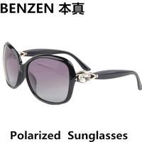 2014 New  Women Polarized Sunglasses luxurious Rhinestone  woman Driving Sun glasses shades UV 400 oculos with case black  1022B