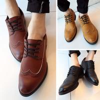 2014 PU men's spring shoes rubber outsole wear-resistant soles men's shoes drop shipping