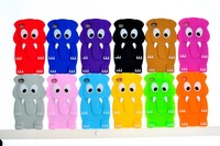 Dropshipping Free shipping Cartoon 3D elephant case Cute Gift  Silicon Case Cover For iphone 4 4s 5 5s with poly bag