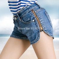 2014 women shorts feminino clearance price,new fashion high quality side zipper women's clothing bottoms denim jeans shorts,Hot
