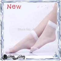 New 2014 Crystal Silk Ultra-thin Transparent Women Short Socks (40Pcs=20Pairs)