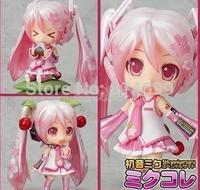 Free shippingGSC Sakura Hatsune MIKU Q clay version of Hatsune Miku Hatsune 274 cherry can be hands-on do face transplant