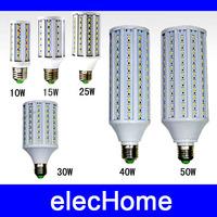5pcs/lot Wholesale 5630 5730SMD E27 LED 10w 15w 25w 30w 40w 50w LED Corn Bulb Lamp Light  leds AC 220V 230V 240V LED Bulbs Lamps