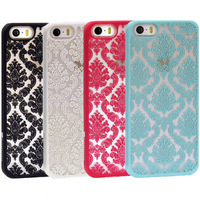 For Apple iPhone 5S Hot Damask Vintage Pattern Rubber Protector Hard Case Cover  Free Shipping