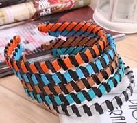 Free shipping 5pcs/lot new design fashion  Korea Acrylic  woven edge pressing hair band,fashion jewelry