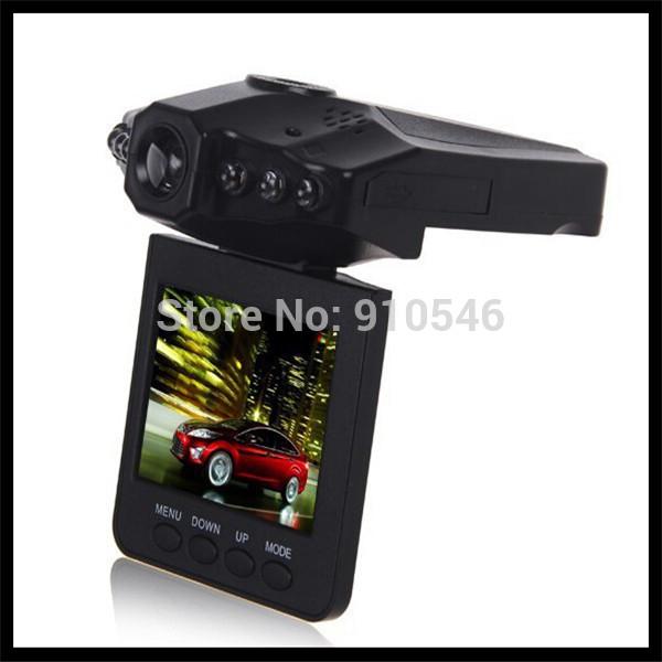 DHL Free Shipping 640*480 H198 Car DVR Video Recorder 6 IR Led Night Vision Vehicle Black Box Camera 20Pcs/Lot(China (Mainland))