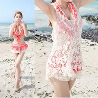 Sexy Women Bikini Cover Up Lace Hollow Crochet Swimwear Beach Floral Dress Tank Free Drop-Shipping