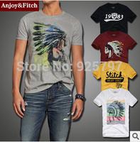 New 2014 summer brand short sleeve men causal cotton t shirt men o-neck t-shirt abercr for ombie america apparel camisa dudalina
