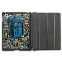 Tardis Doctor Who Retro Comic Book Protective Smart Cover Leather Case For iPad 2 3 4/iPad 5 Air/iPad Mini  P82